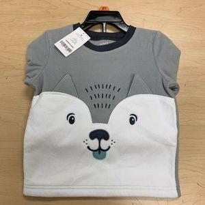 Carters Boys 2-piece Fleece Pajama Set Fox Size 2T
